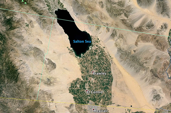 Aerial view of the Salton Sea
